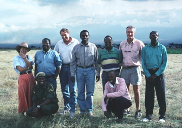 MGM consultant team with Kenya Wildlife Service counterparts