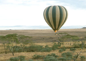 Balloon safari over Serengeti National Park, Tanzania